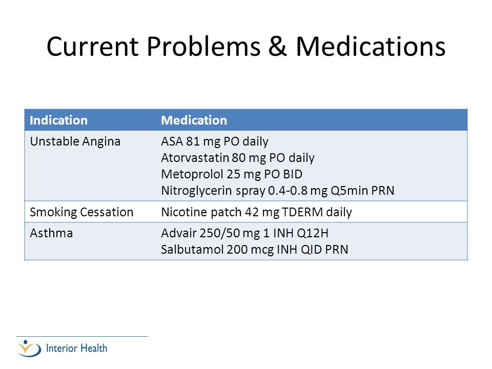 Current Problems & Medications