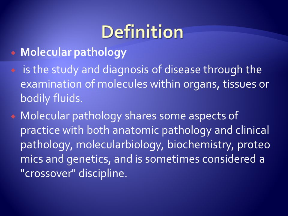 Definition Molecular pathology