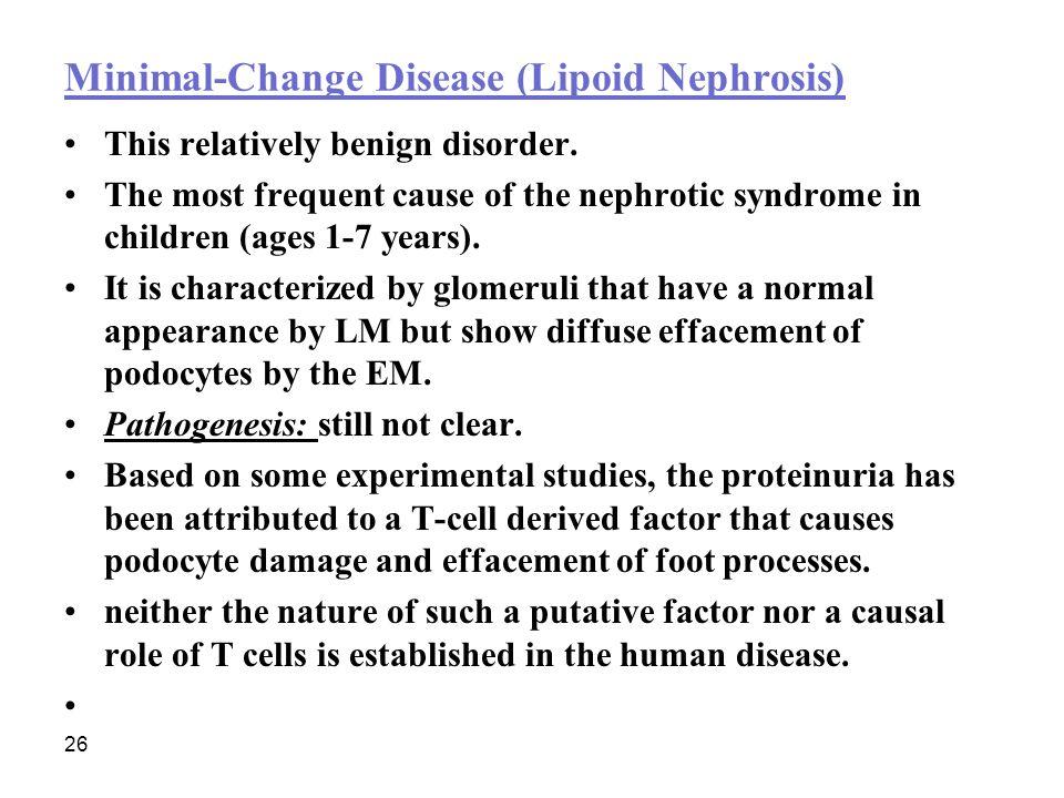 Minimal-Change Disease (Lipoid Nephrosis(