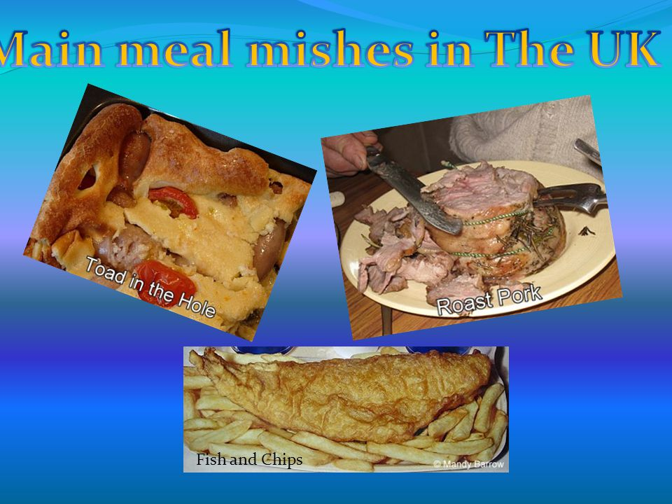 Main meal mishes in The UK