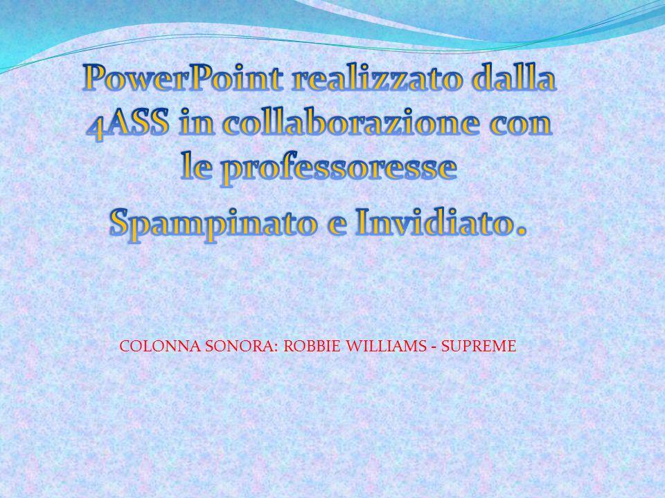 PowerPoint realizzato dalla 4ASS in collaborazione con le professoresse Spampinato e Invidiato.