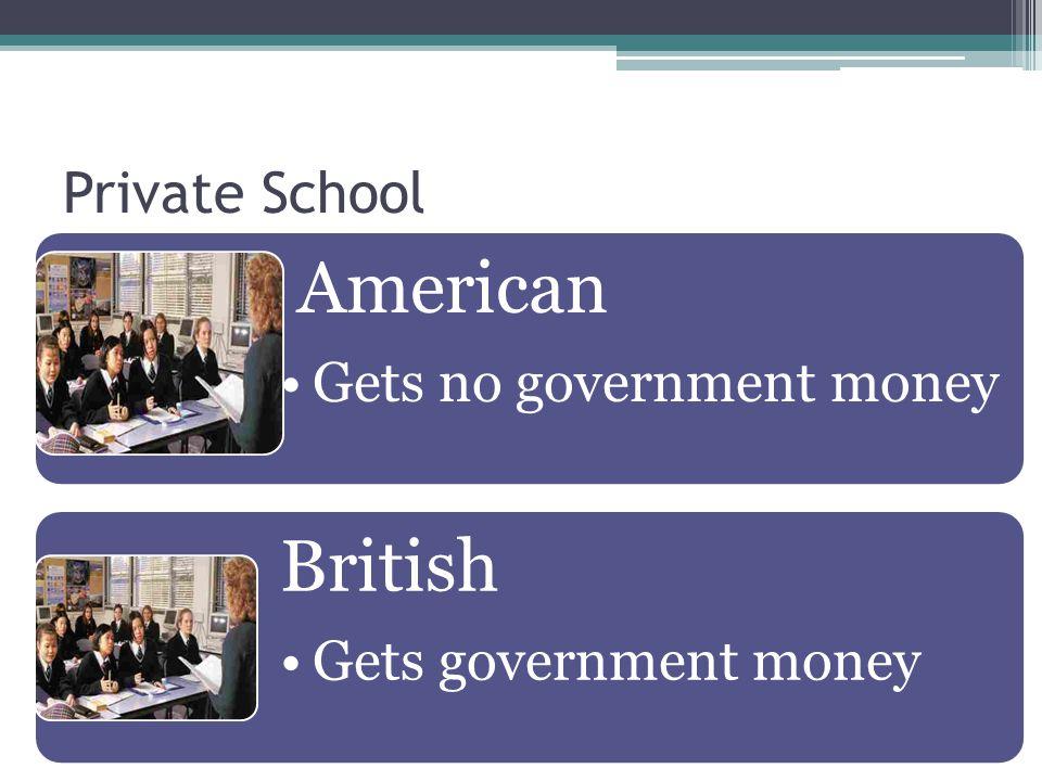 American British Private School Gets no government money