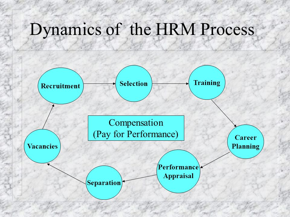 Dynamics of the HRM Process