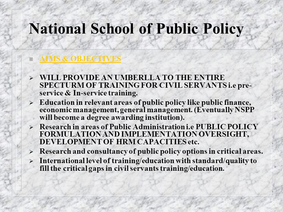 National School of Public Policy