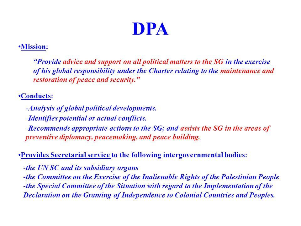 DPA Mission: