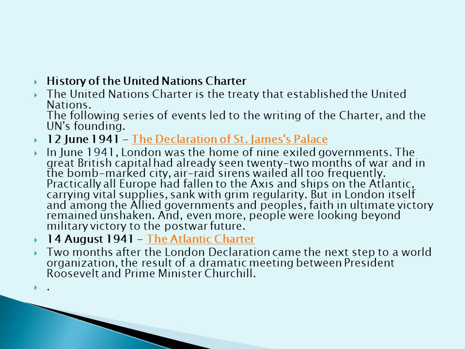 History of the United Nations Charter