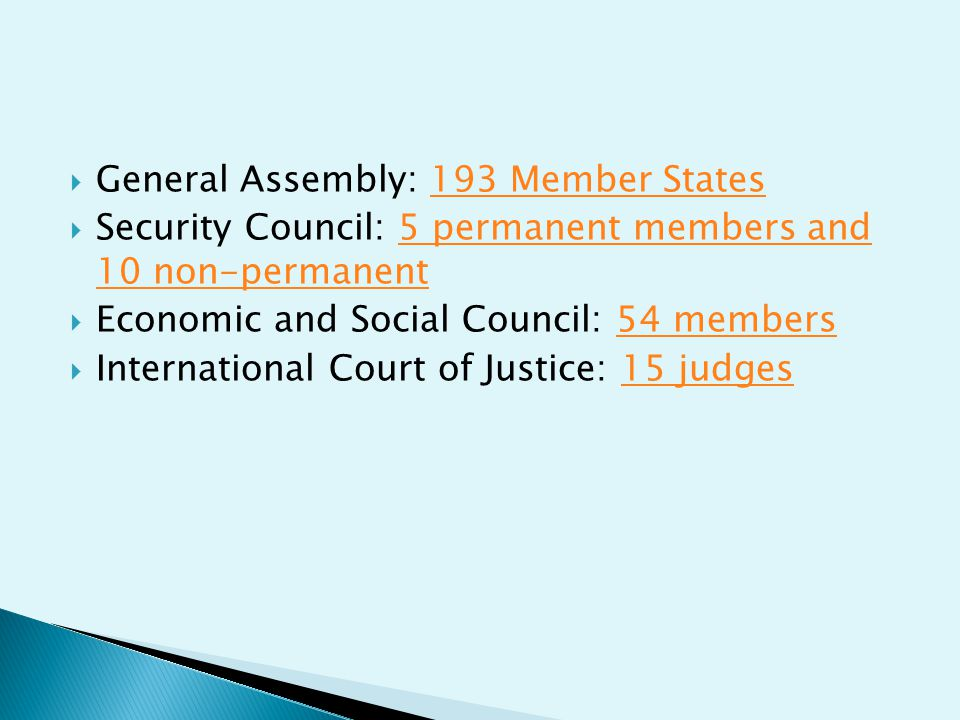 General Assembly: 193 Member States