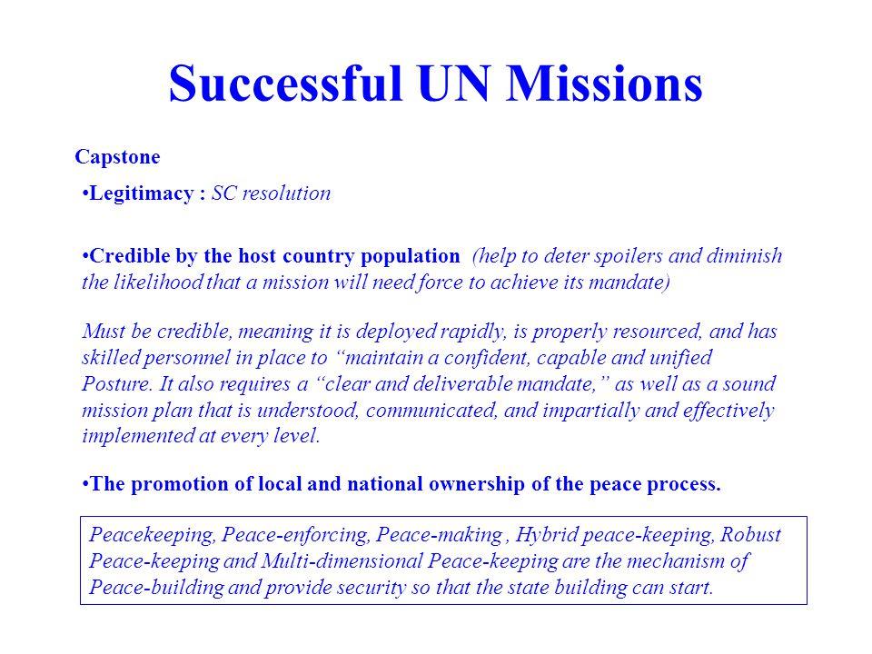 Successful UN Missions