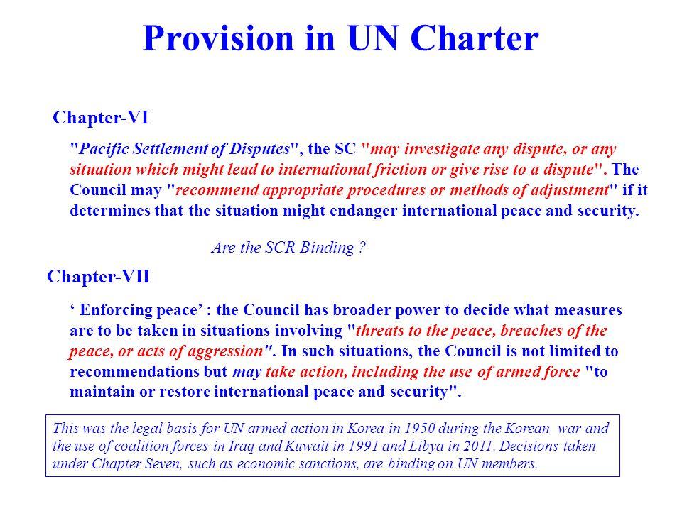 Provision in UN Charter