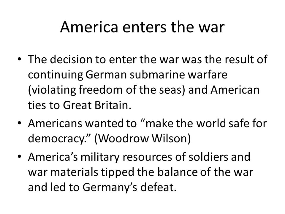 America enters the war