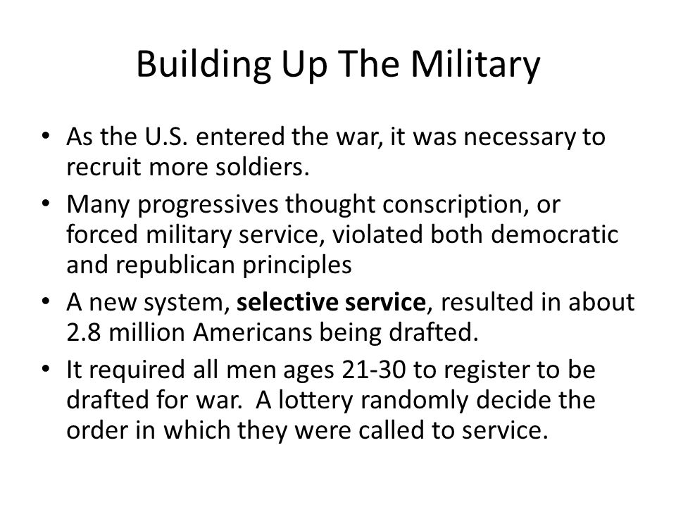 Building Up The Military