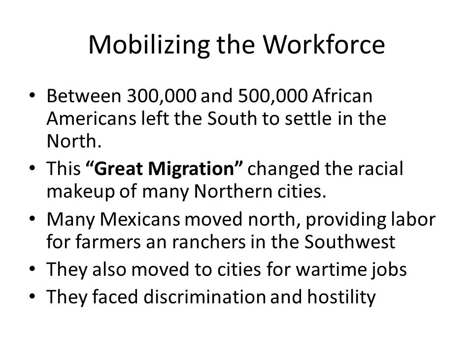 Mobilizing the Workforce