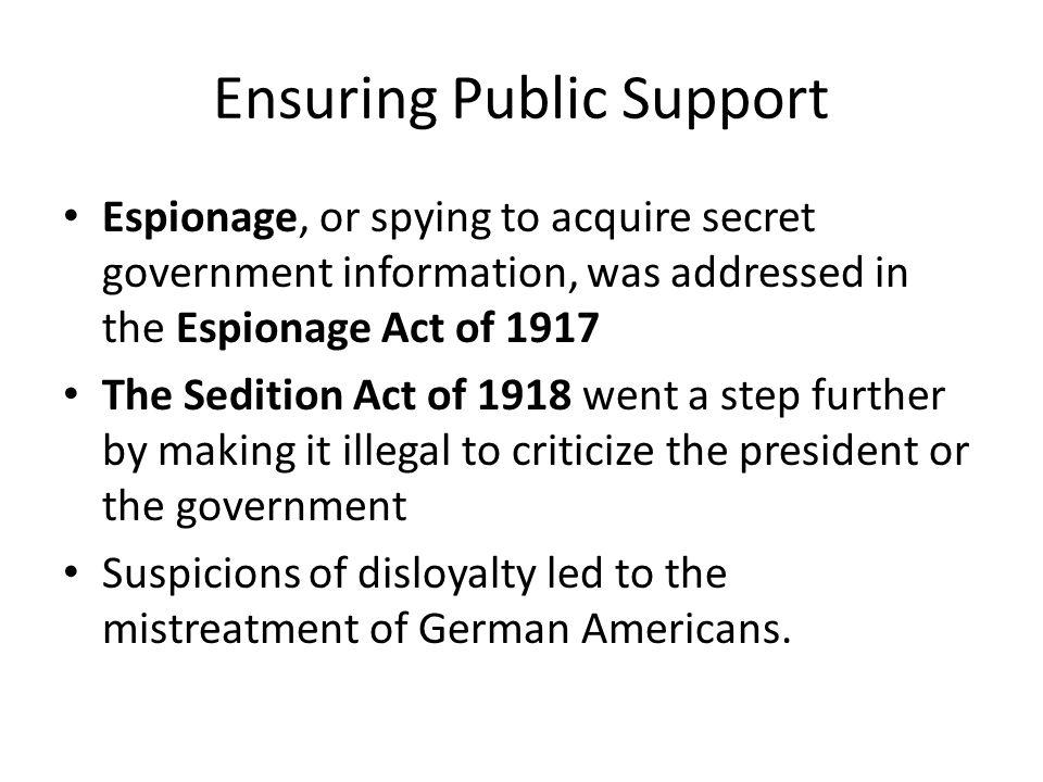 Ensuring Public Support