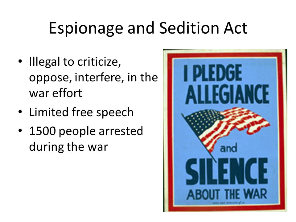 Espionage and Sedition Act