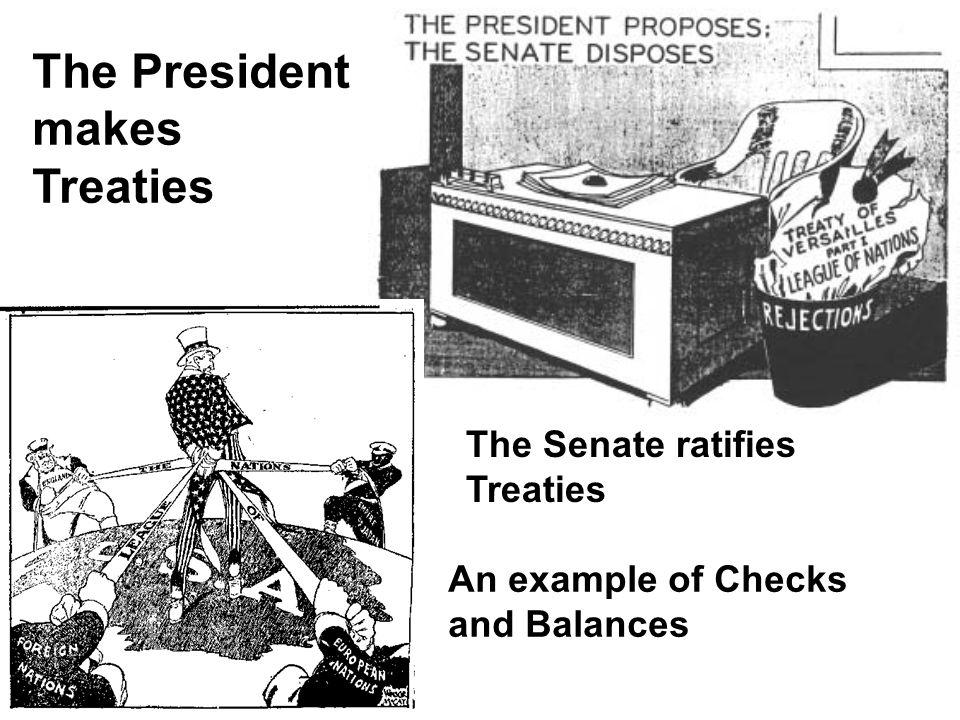 The President makes Treaties