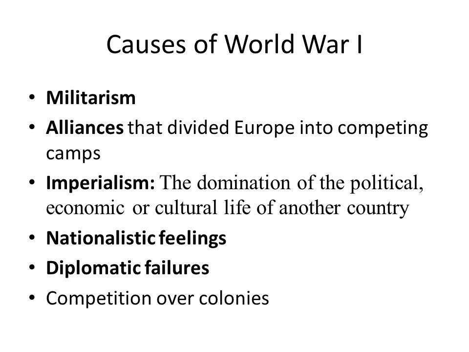 Causes of World War I Militarism