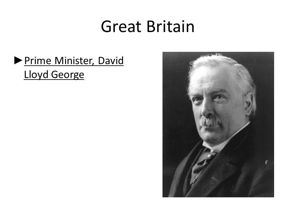 Great Britain Prime Minister, David Lloyd George
