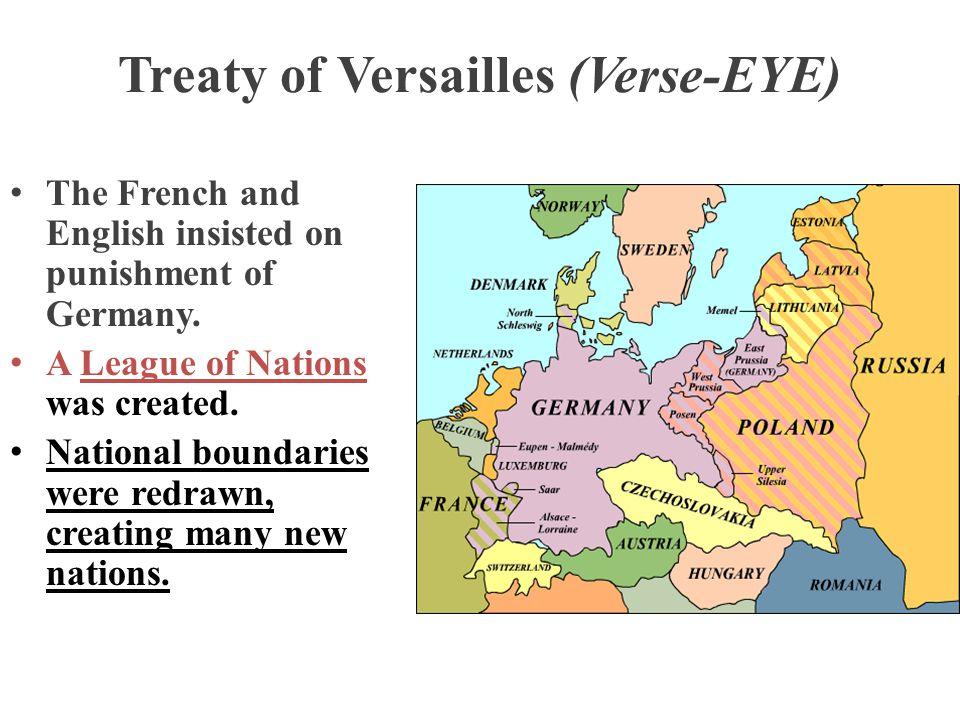 Treaty of Versailles (Verse-EYE)