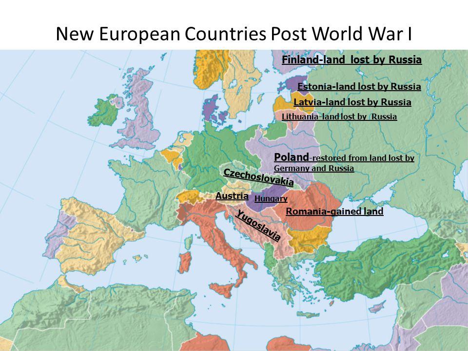 New European Countries Post World War I