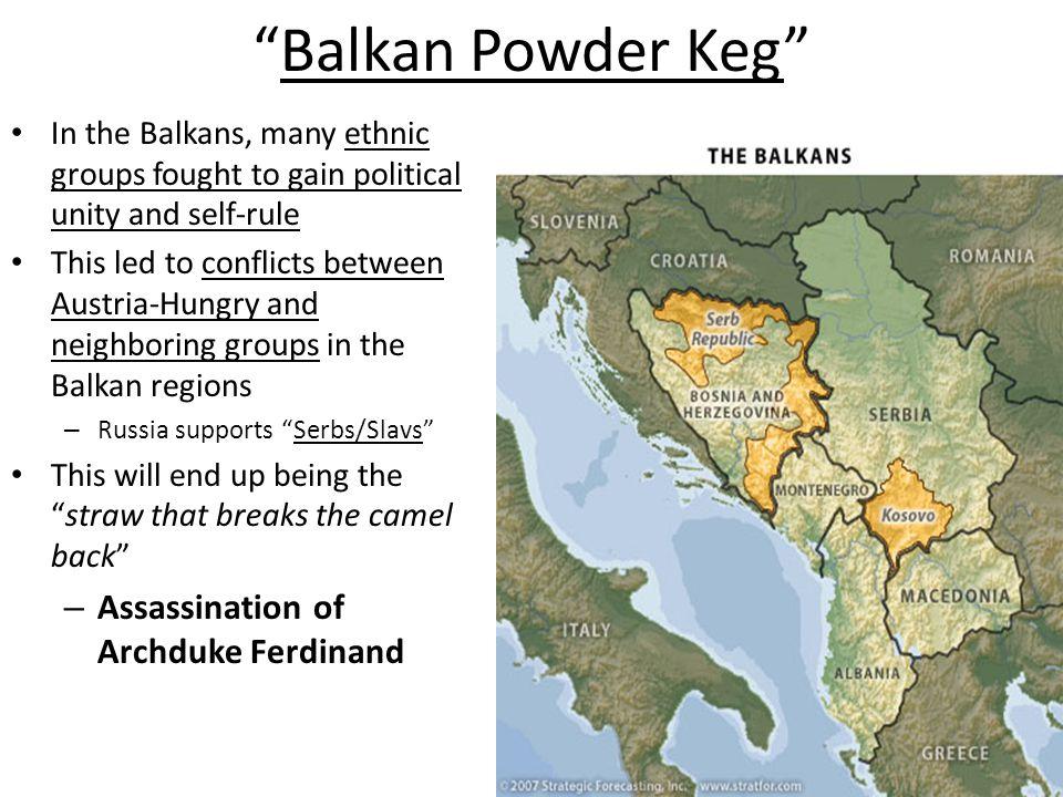 Balkan Powder Keg Assassination of Archduke Ferdinand