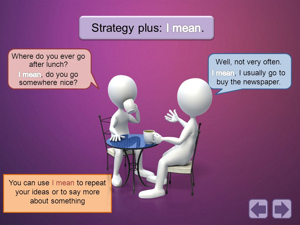 Strategy plus: I mean. Where do you ever go after lunch