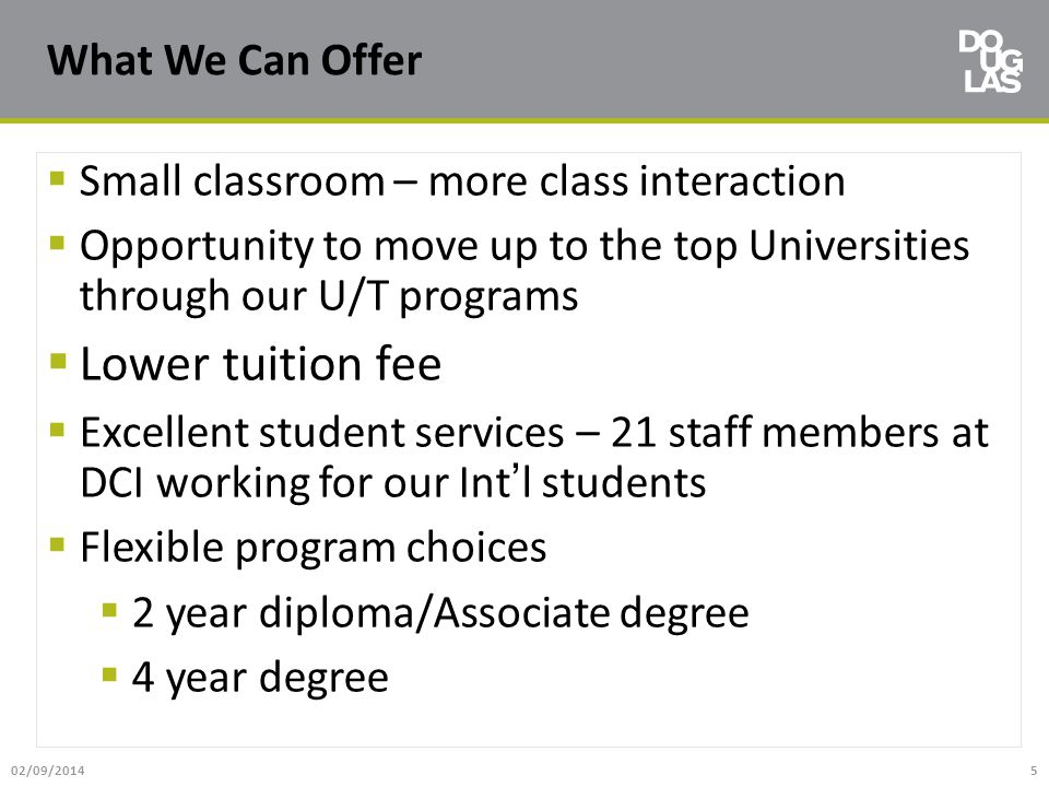 Lower tuition fee What We Can Offer