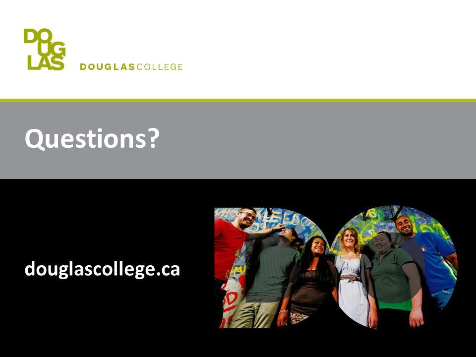 Questions douglascollege.ca