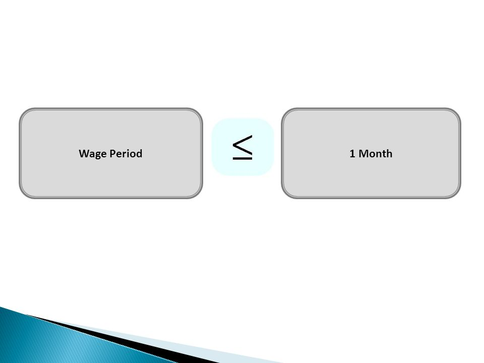 Wage Period 1 Month
