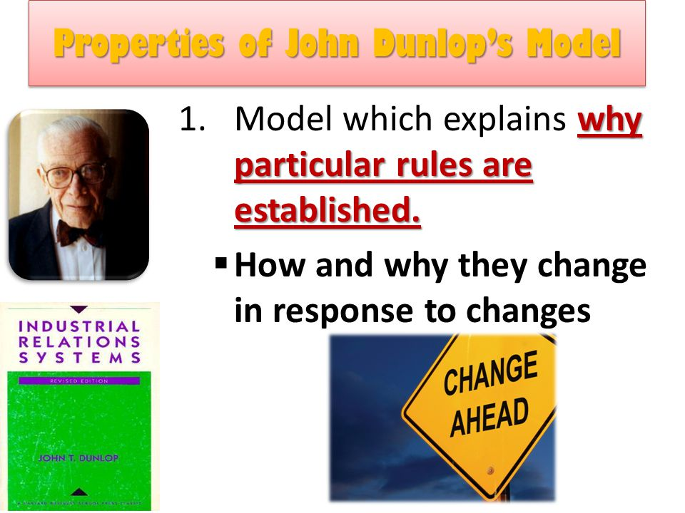Properties of John Dunlop's Model