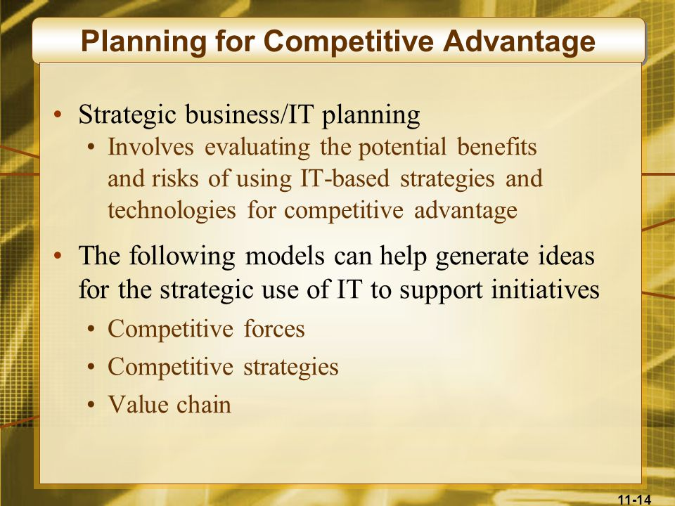 Planning for Competitive Advantage