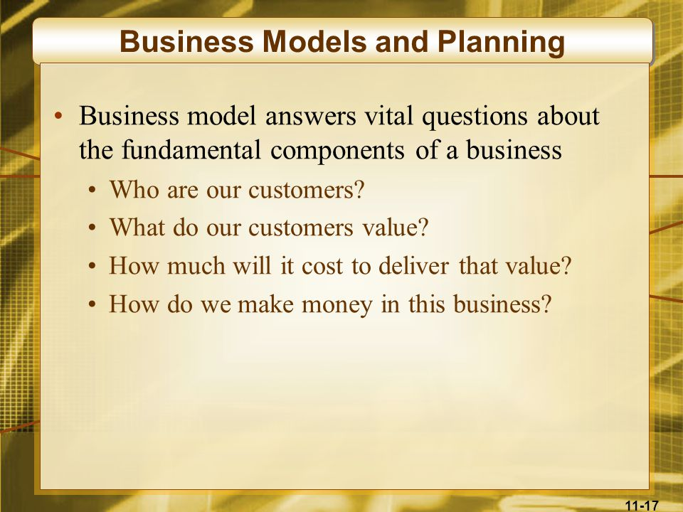 Business Models and Planning