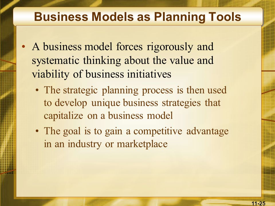 Business Models as Planning Tools