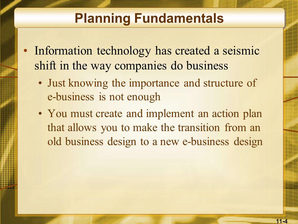 Planning Fundamentals
