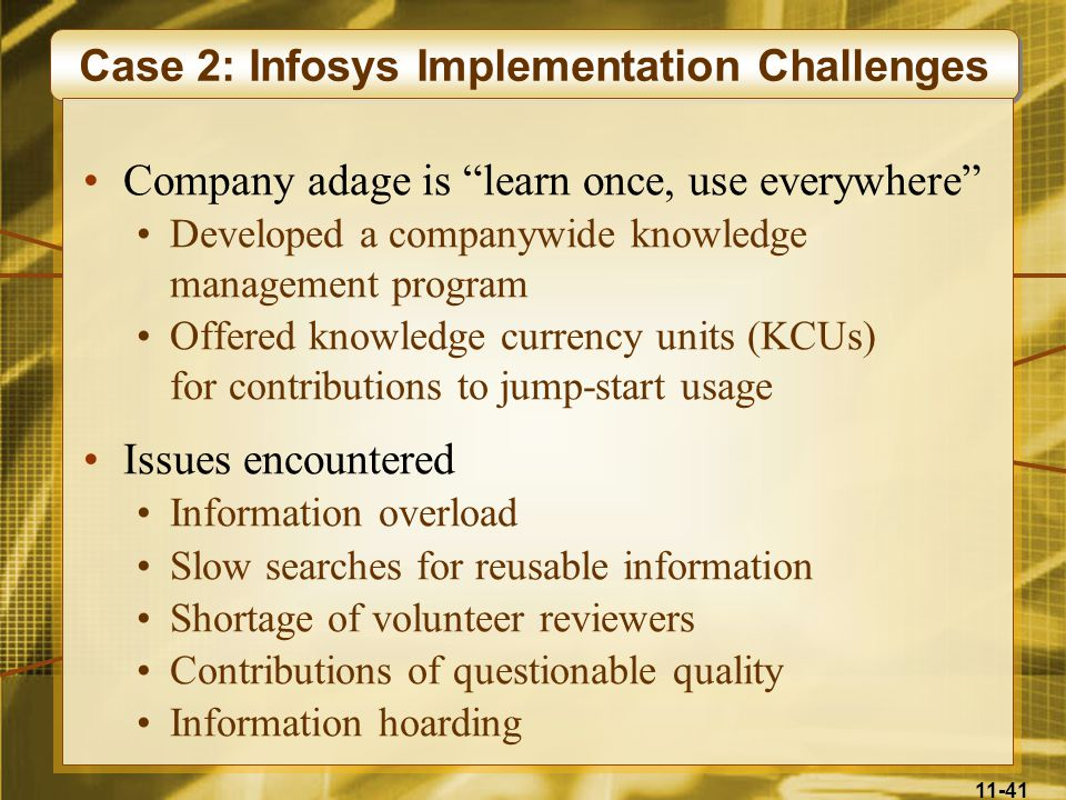 Case 2: Infosys Implementation Challenges