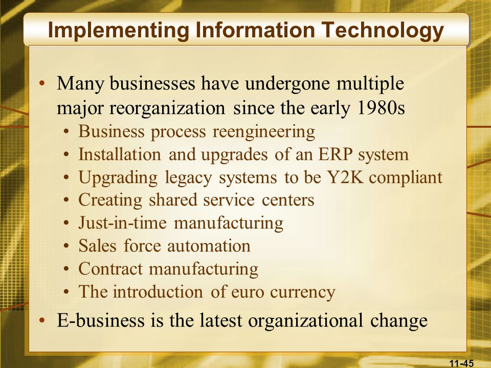 Implementing Information Technology