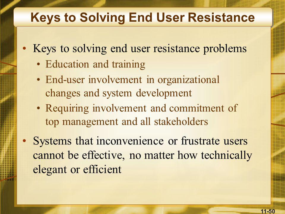 Keys to Solving End User Resistance