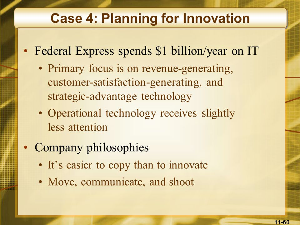 Case 4: Planning for Innovation
