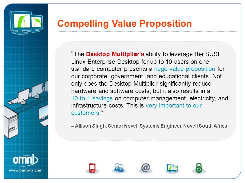 Compelling Novell Linux Desktop Value Proposition