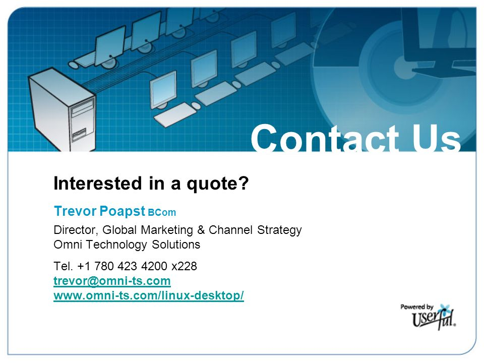 Contact Us – Interested in a Quote