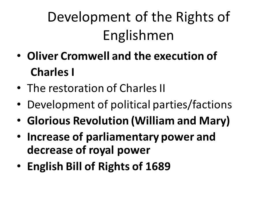 Development of the Rights of Englishmen