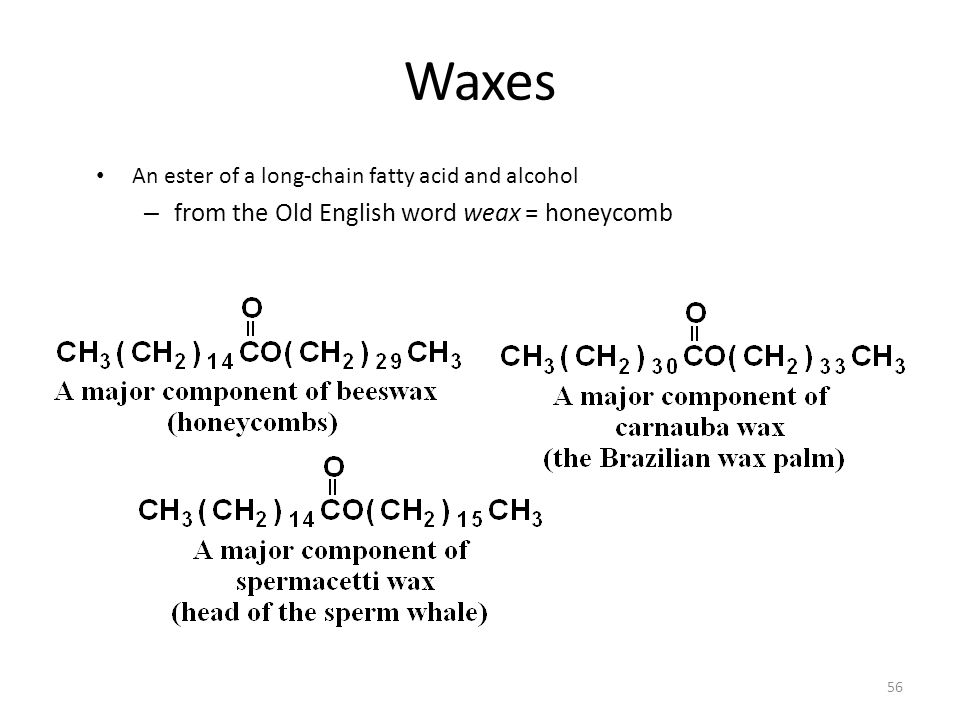 Waxes from the Old English word weax = honeycomb