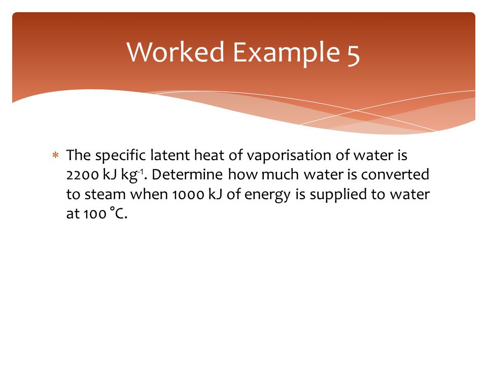 Worked Example 5