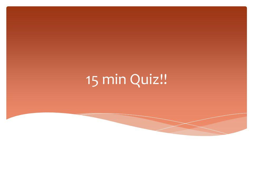 15 min Quiz!!