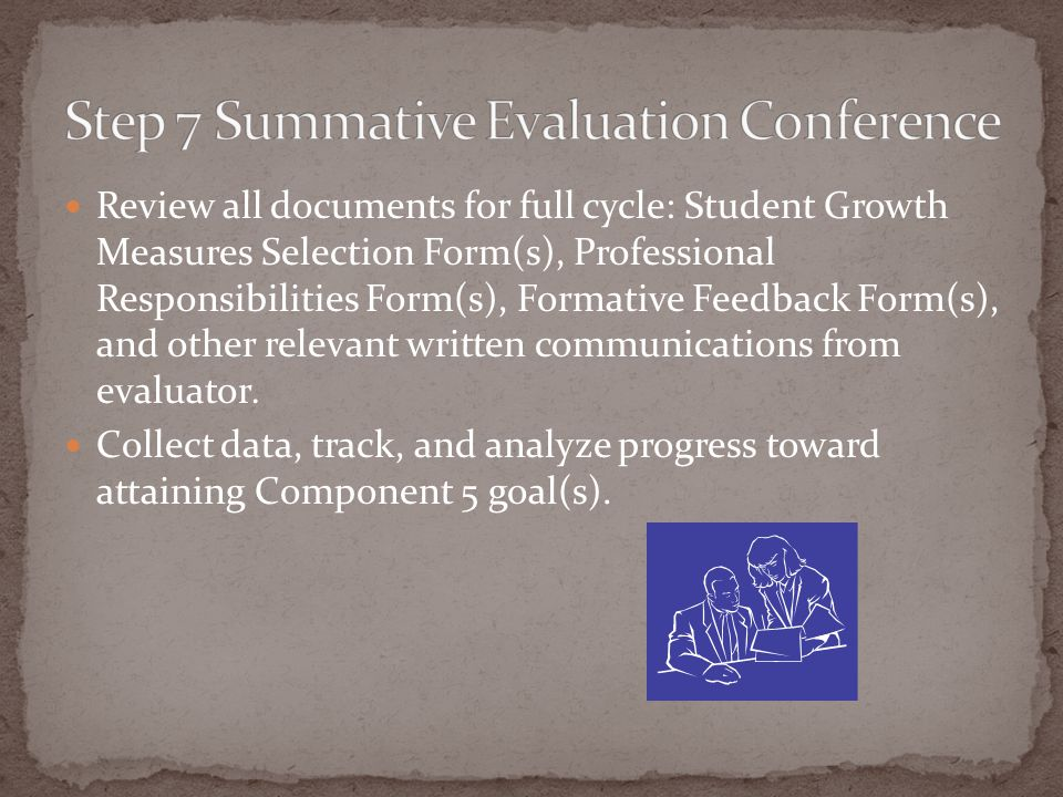 Step 7 Summative Evaluation Conference