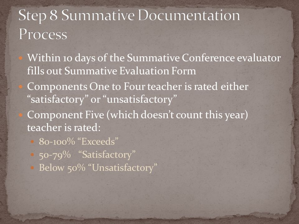 Step 8 Summative Documentation Process