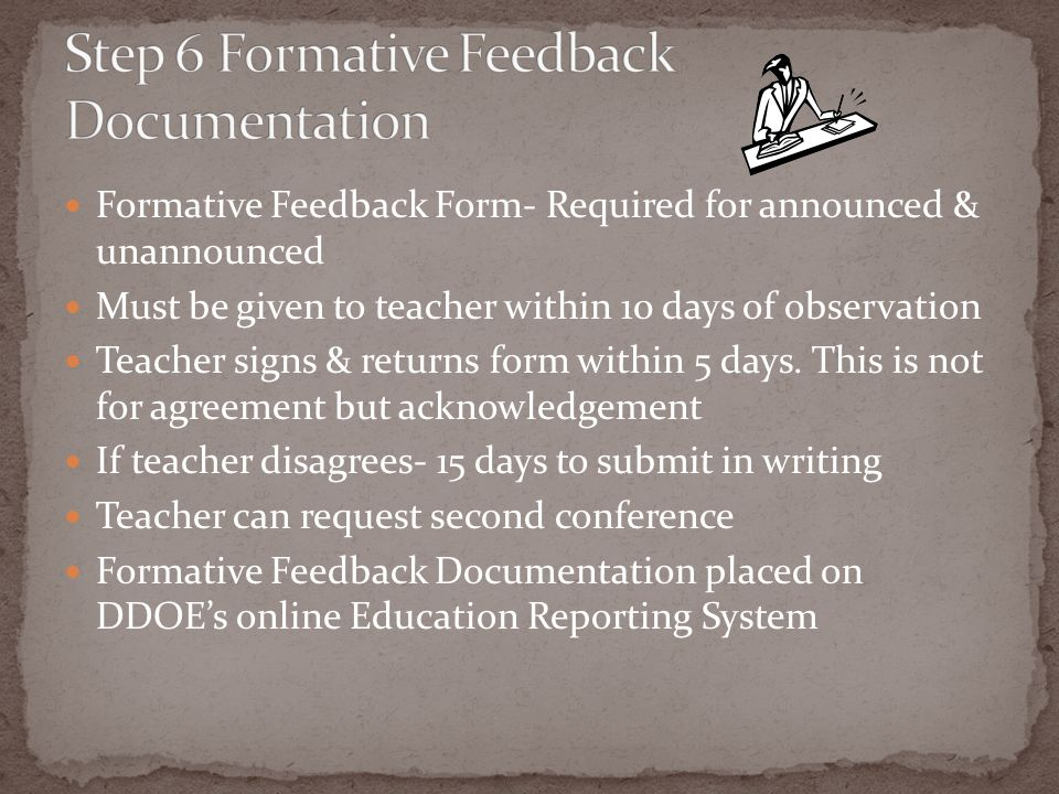 Step 6 Formative Feedback Documentation