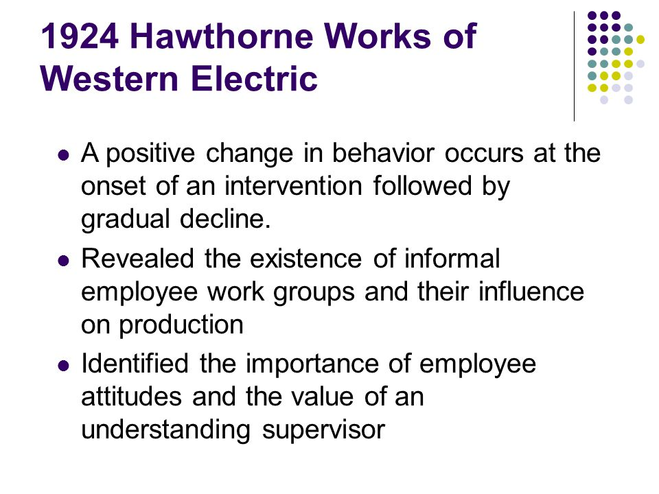 1924 Hawthorne Works of Western Electric