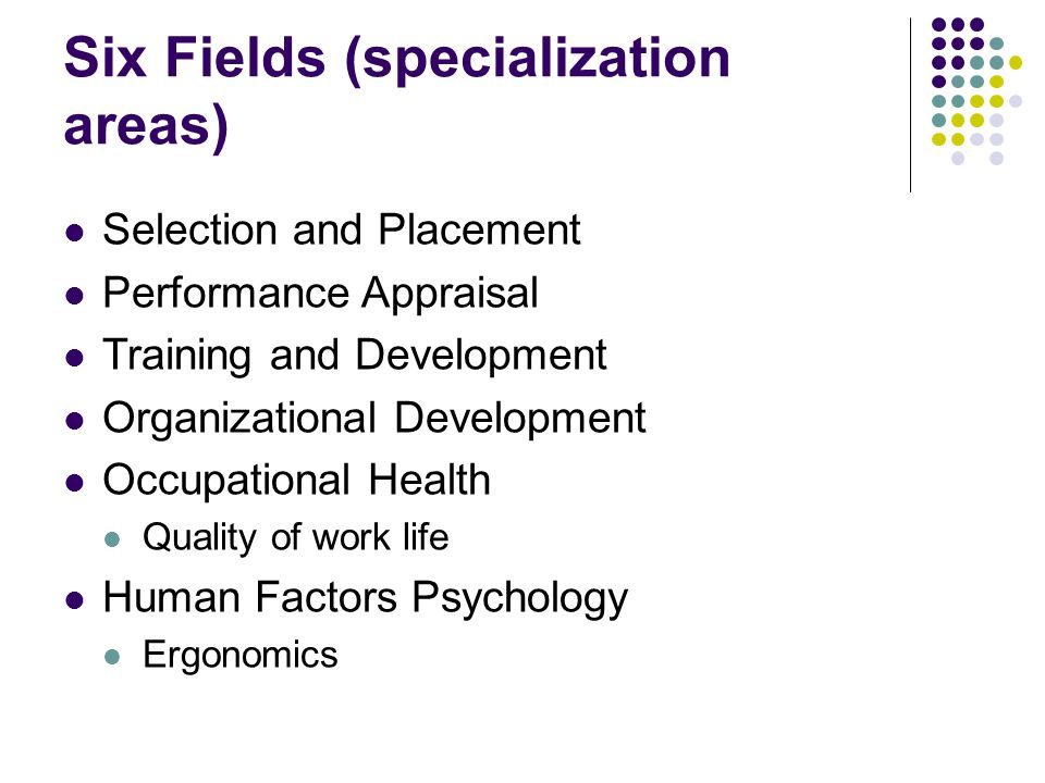 Six Fields (specialization areas)