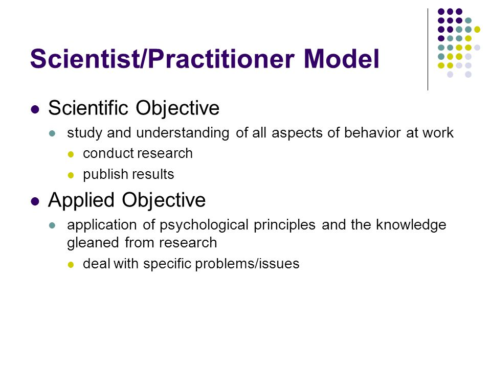Scientist/Practitioner Model
