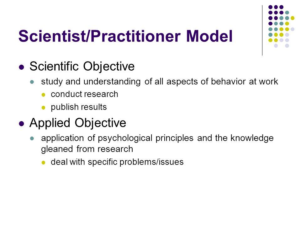 Scientist/Practitioner Model